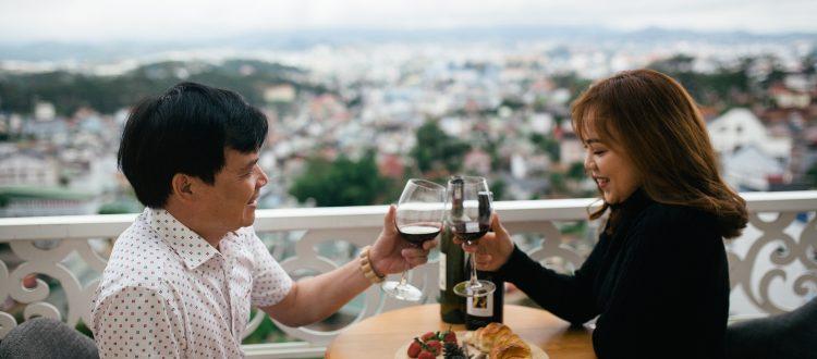 View toàn cảnh từ khách sạn Rose Valley Đà Lạt